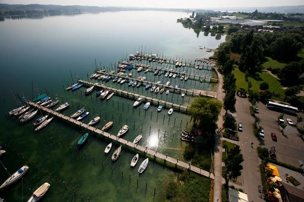 Luftaufnahme Yachthafen Reichenau