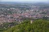 Achalm mit Blick auf Reutlingen