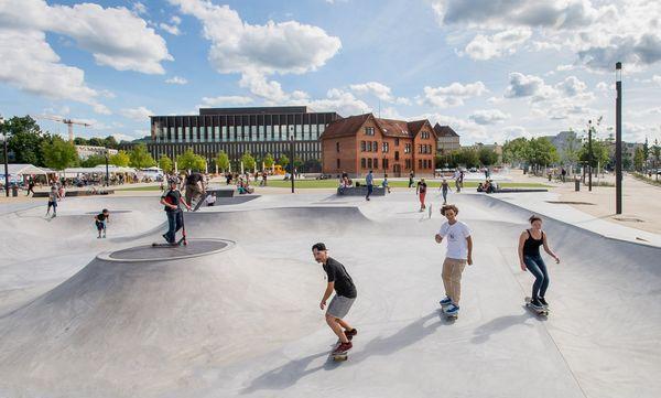 Skater, Skateanlage im Bürgerpark in Reutlingen