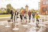 Wasserspiele im Bürgerpark in Reutlingen