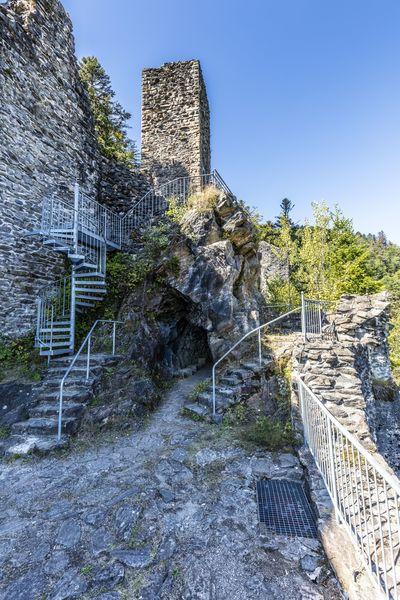 Burgruine Treppen