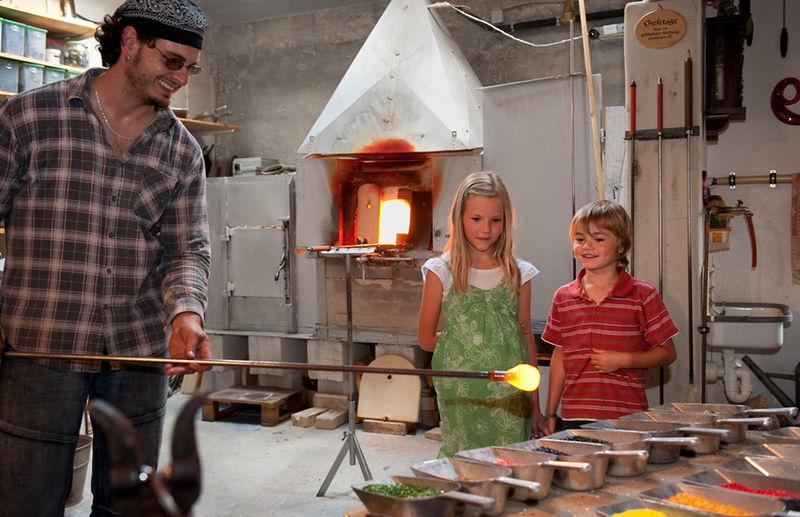 Schauglashütte Glasscherben Köck in Riedlhütte