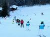 Skifahrer am Schlepplift in Reichenberg bei Riedlhütte im Bayerischen Wald