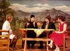 Szene aus einem Theaterstück der Stoariegl-Bühne in Riedlhütte