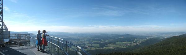 Panoramablick Richtung Cham
