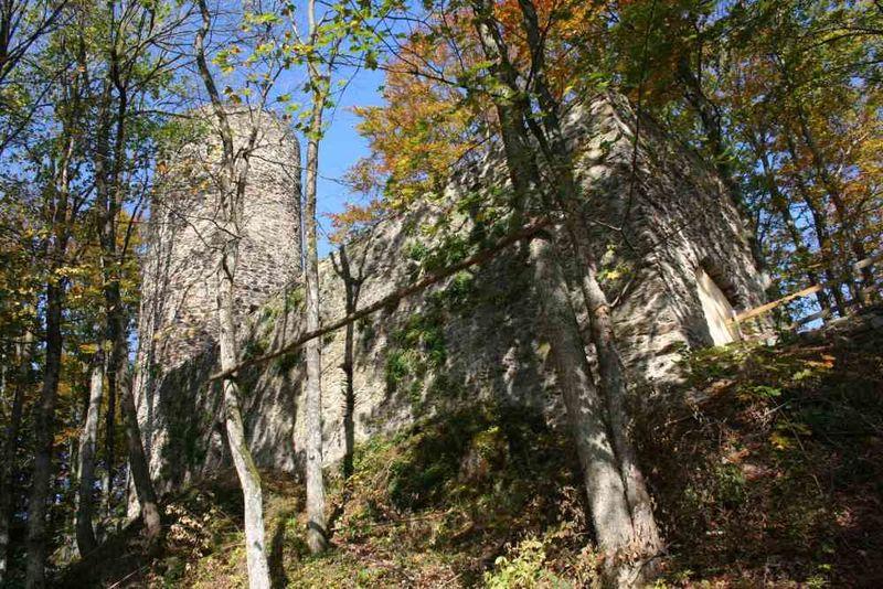 Die Burgruine Lichtenegg bei Rimbach im Kötztinger Land - Bayerischer Wald