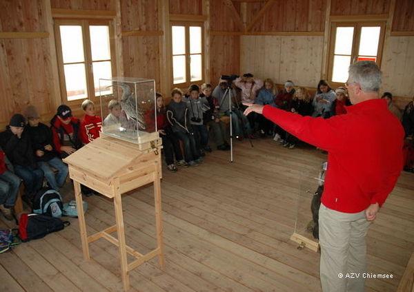 Vortrag in der Naturbeobachtungsstation.