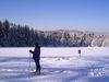 Skiwanderer im Langlaufgebiet Kohlau bei Rinchnach im Bayerischen Wald