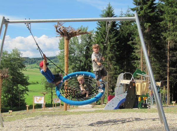 Kinderspaß beim Fledermaus-Waldspielplatz in Rinchnach