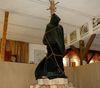 Hexe auf dem Scheiterhaufen im Hexenmuseum in Ringelai