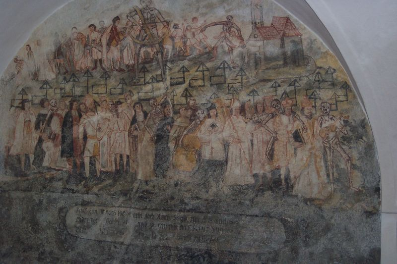 Annakapelle mit Totentanzfresko in Roding
