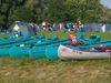 Boote beim Jugendzeltplatz Roding am Fluss Regen im Naturpark Oberer Bayerischer Wald