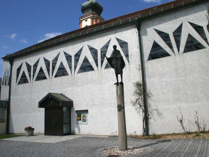 Eingangsbereich der Stadtpfarrkirche ST. PANKRATIUS in Roding