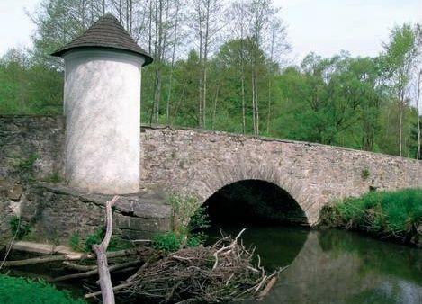 Blick auf die Steinerne Brücke bei Röhrnbach im Bayerischen Wald