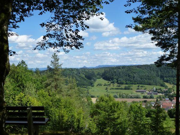 Blick von Rosenfeld auf die Burg Hohenzollern