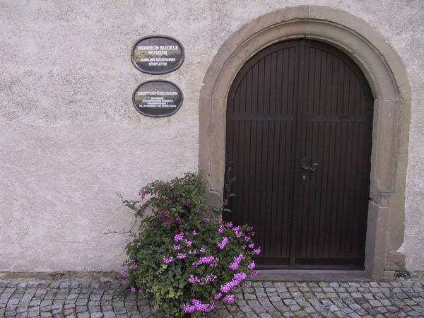 Eingang Heinrich-Blickle-Museum in Rosenfeld
