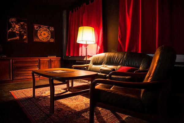 Wohnzimmer im Escape Room