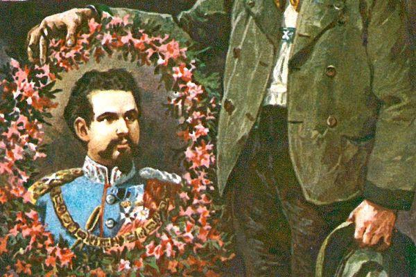 Postkarte König Ludwig II.