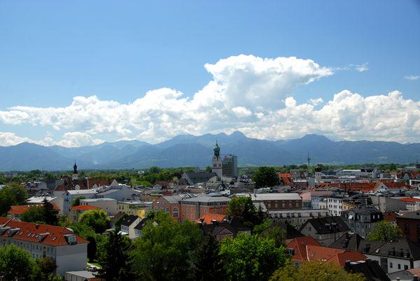 Panoramabild über Rosenheim