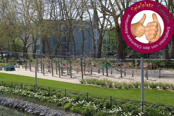 Spielplatz im Mangfallpark-©Tourist Info Rosenheim