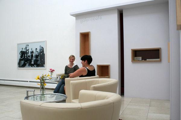 Cafe in der Städtischen Galerie Rosenheim.
