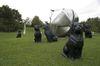 Rottweiler Hörl-Hunde im Skulpturenpark der Kunststiftung Erich Hauser