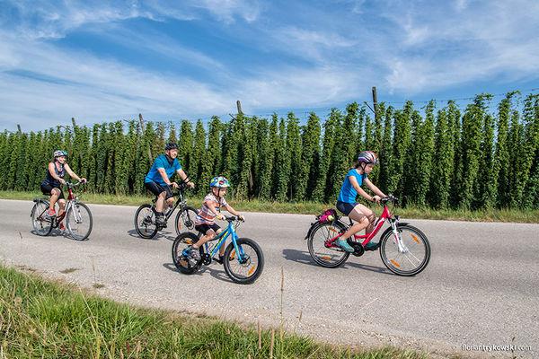 Radausflug mit der Familie entlang der Hallertauer Hopfentour