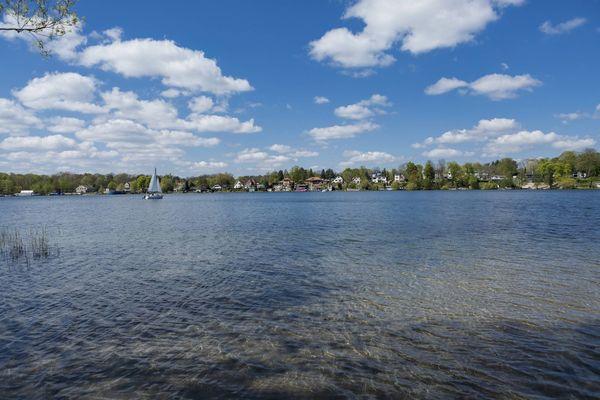 Kalksee mit Blick auf Woltersdorf, Foto: TMB-Fotoarchiv/Steffen Lehmann