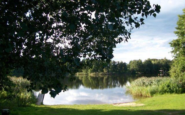 Badestrand am kleinen Stienitzsee