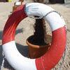Rettungsring an der Strandlandschaft
