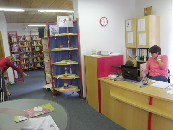 Innenansicht der Bücherei