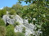 Blick von Westen auf die Kulturhöhle Hohler Stein