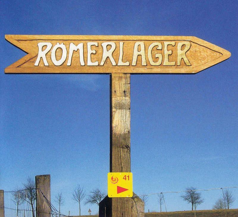 Wegweiser zum Römerlager