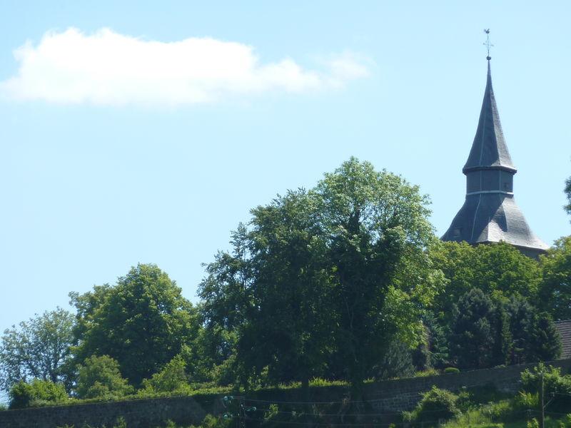 Blick auf den Turm der Johanneskirche