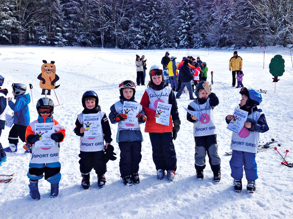 Kinder-Skikurs der Skischule Sport Greil