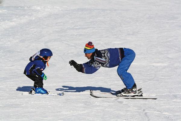 Skiunterricht für Kinder bei der Skischule Sport Greil