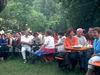 Biergartenbetrieb bei der Liederbühne Robinson
