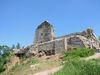 Blick auf die Mauern der Burgruine Runding bei Cham