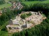 Die Burgruine Runding bei Cham, ehemals größte Burganlage des Bayerischen Waldes
