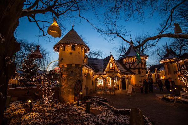 Winterliches Ambiente im Europa-Park