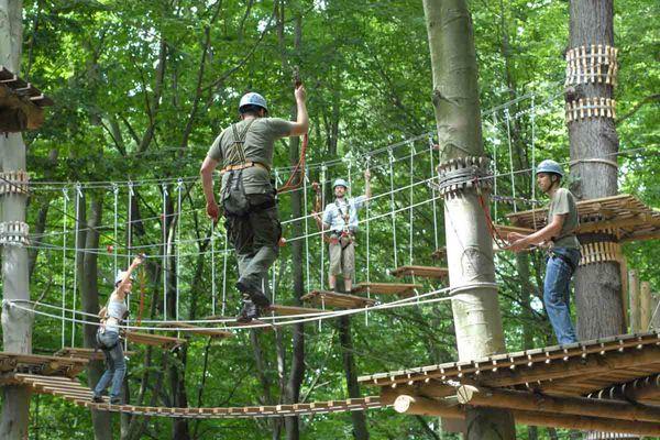Kletterspaß im Abenteuerpark Saar