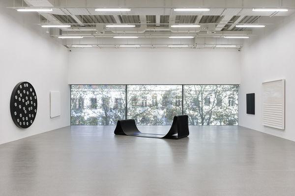 Innenansicht Moderne Galerie, Trakt B © VG Bild-Kunst, Bonn 2017 für Gerhard Graevenitz, François Morellet, Aurélie Nemours und Leo Erb © Michal Budny