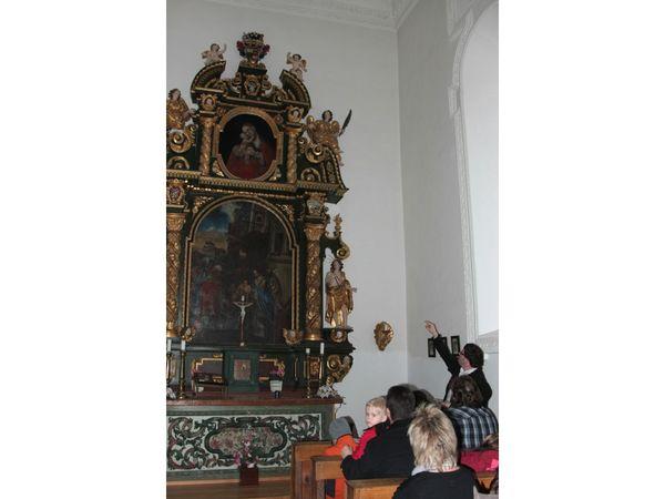 Altar in der Burgkapelle der Ritterfeste Saldenburg