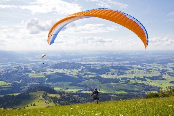 Paragliding vom Hochries-Gipfel