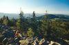 Herrliche Aussicht von der Käsplatte bei Kollnburg im Bayerischen Wald