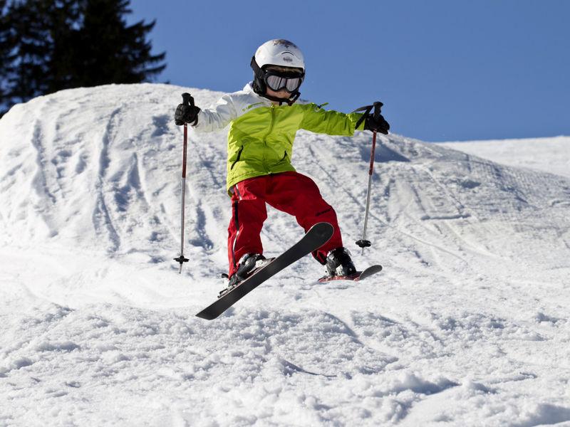 Bewegung im Schnee für die Kids in der Skischule Sankt Englmar - Bayerwald