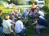 Am Lagerfeuer Würstl und Stockbrot grillen beim Ferienhof Meininger in St. Oswald