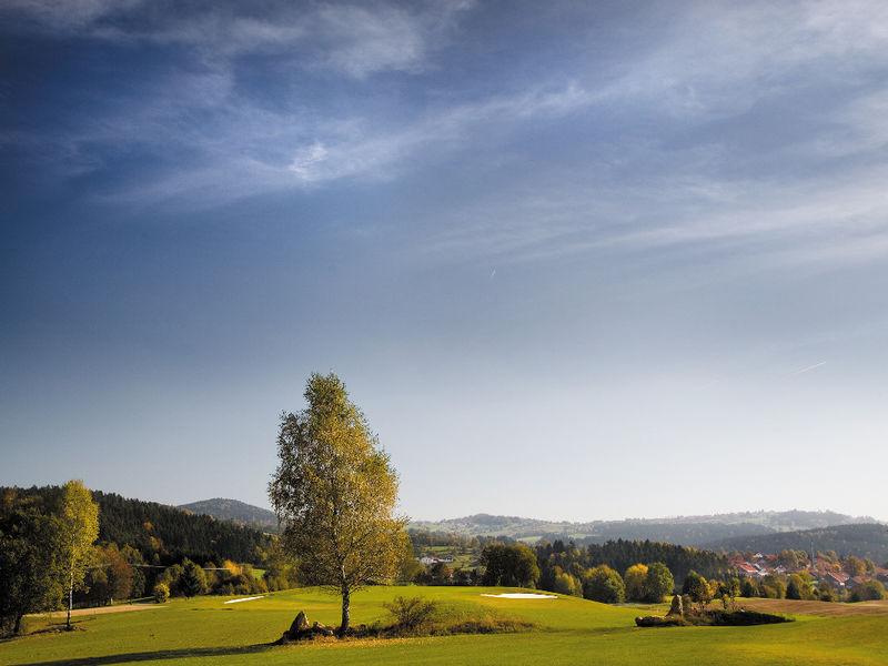 Blick über die Anlage des Golfclubs am Nationalpark