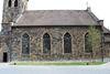 Seitenansicht der historischen Kirche