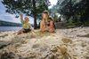 Die Sandbuchten: ideal zum Liegen und Spielen